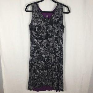 Gaiam Black/Multi & Purple Reversible Knit Dress